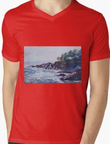 Beachhead Mens V-Neck T-Shirt