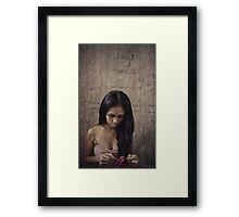 fading traces Framed Print