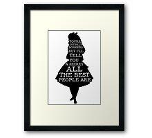 Alice in Wonderland Have I Gone Bonkers Quote Framed Print