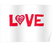 Love word written on greeting card Poster