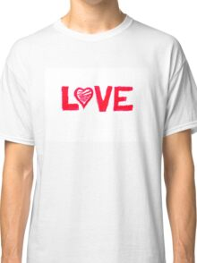 Love word written on greeting card Classic T-Shirt