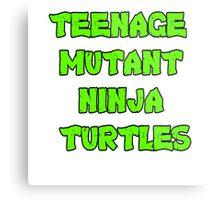 Teenage Mutant Ninja Turtles Words Metal Print