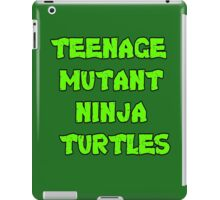 Teenage Mutant Ninja Turtles Words iPad Case/Skin
