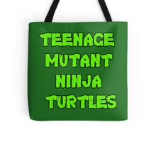 Teenage Mutant Ninja Turtles Words Tote Bag