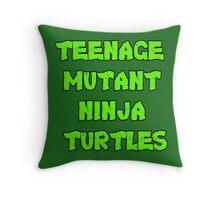 Teenage Mutant Ninja Turtles Words Throw Pillow
