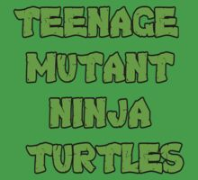 Teenage Mutant Ninja Turtles Words by David and La Jeana Bodo