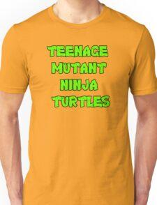 Teenage Mutant Ninja Turtles Words Unisex T-Shirt