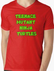 Teenage Mutant Ninja Turtles Words Mens V-Neck T-Shirt