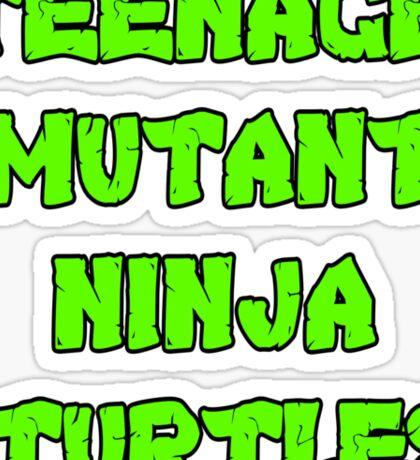 Teenage Mutant Ninja Turtles Words Sticker