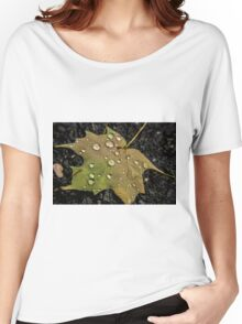 Leaf and Droplets Women's Relaxed Fit T-Shirt