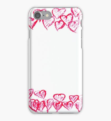 Happy Valentines Day frame image concept iPhone Case/Skin
