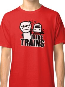 ASDF T-Shirt I Like Trains  Classic T-Shirt