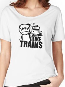 ASDF T-Shirt I Like Trains  Women's Relaxed Fit T-Shirt