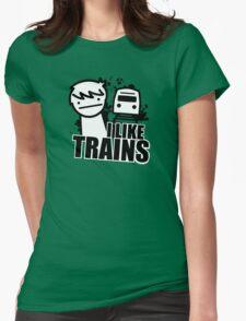 ASDF T-Shirt I Like Trains  Womens Fitted T-Shirt