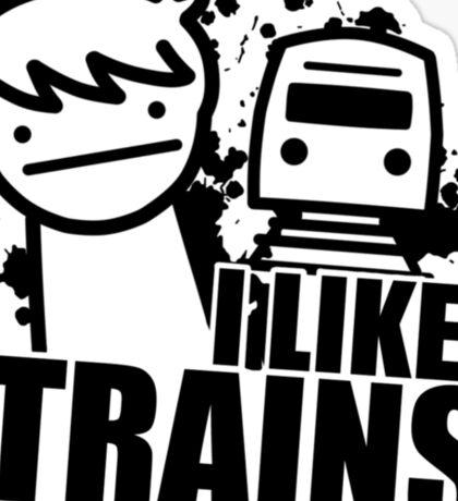 ASDF T-Shirt I Like Trains  Sticker