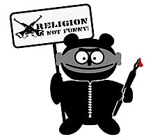 Religion is not funny Photographic Print