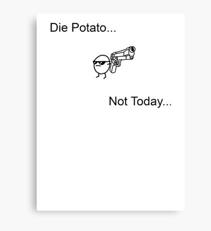 Die Potato ASDF T-Shirt Canvas Print