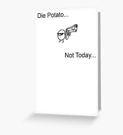 Die Potato ASDF T-Shirt Greeting Card
