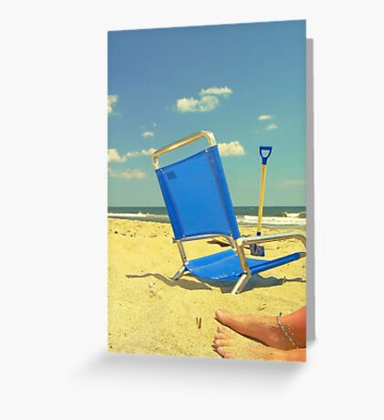 Blue Skies and Warm Sand Greeting Card