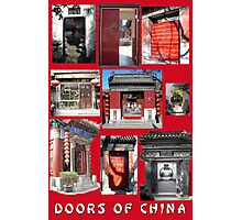 Doors of China Photographic Print