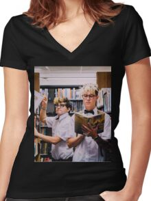 kian and jc project Women's Fitted V-Neck T-Shirt