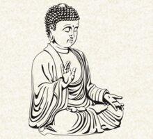 Praying Buddha for light hoodies by dipsmistry