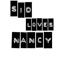 Sid Loves Nancy (Sid Vicious & Nancy Spungen) Photographic Print