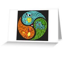 Three Elements Greeting Card
