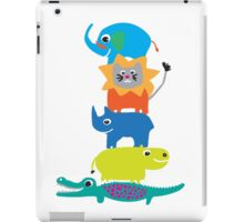 colored animals iPad Case/Skin