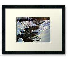marshmallow creek Framed Print