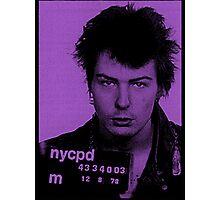 Sid Vicious Mugshot  Photographic Print