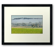 Foggy Layer Framed Print