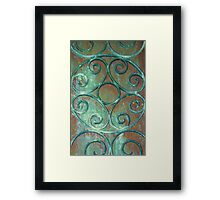 Wrought Iron Scrollwork Framed Print