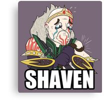League of Shaven Canvas Print