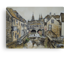 Bayeux (in coffee) Canvas Print