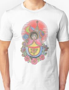 Russian Nesting Doll Illustration Unisex T-Shirt