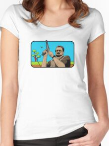Duck hunting on Shabbos (Digital Duesday #1) Women's Fitted Scoop T-Shirt
