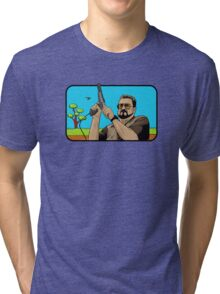 Duck hunting on Shabbos (Digital Duesday #1) Tri-blend T-Shirt