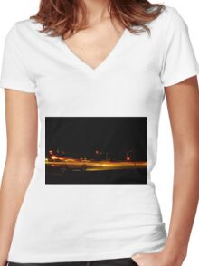 Intersection Women's Fitted V-Neck T-Shirt