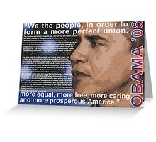 Obama 08 - Speech on Race Greeting Card