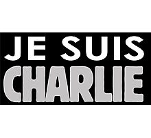 JE SUIS CHARLIE Photographic Print