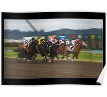 Stunning Thoroughbred Racing Print or Poster Poster