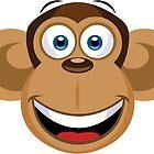 Cartoon Monkey by Fitzillo