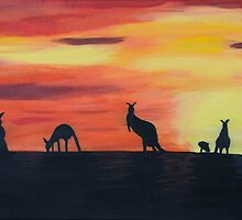 Roos on the horizon by Jenny  Dyer