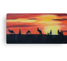 Roos on the horizon Canvas Print