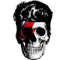 David Bowie (Ziggy Stardust) Skull Photographic Print