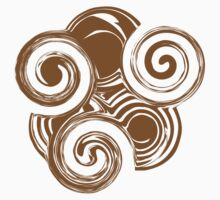 Brown Retro Swirls by Nia Brown