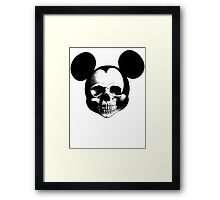 Mickey Skull Framed Print