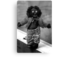 SAD DISGARDED GOLLIWOG Canvas Print