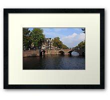 Amsterdam Stone Arch Bridge Framed Print